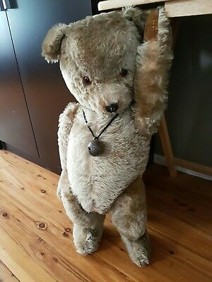 Antique Vintage Big Tubby Chiltern Bear 27""