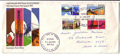 "1970 FDC. National Development. Set on long APO cover. FDI ""MAROUBRA"""