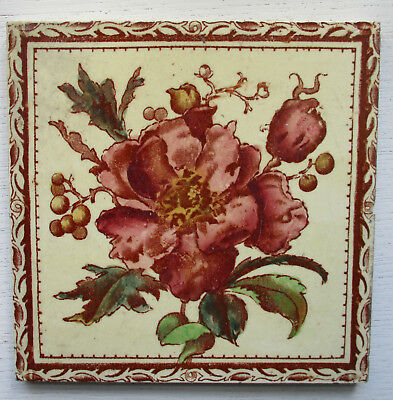 Victorian Print And Tint Floral Tile