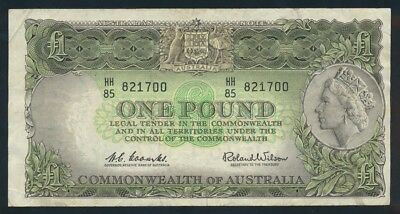 "Australia: 1961 LAST ISSUE QEII £1 ""Reserve Bank"" Title. VF Cat $55"