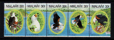 Malawi 1983 Birds - Fish Eagle - Strip of 5 - SG 674a - UM