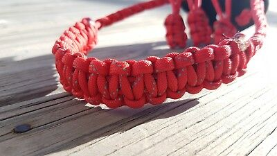 Archery Bow Sling 550 Paracord Reflective red + 3 zipper pulls