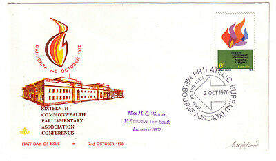 1970 FDC. Commonwealth Parliamentary Association. Royal cover. 1