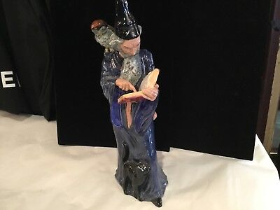 "Authentic & Signed Royal Doulton ""the Wizard"" Hn2877 Figurine No Reserve"