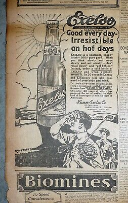 Minnesota Hamm Brewery Prohibition Exelso Golf Theme Ad - 1918 Newspaper Page
