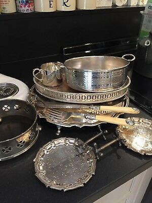 Job Lot Of Vintage Silver Plated Ware