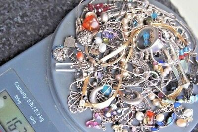 925 Silver WEARING or SCRAP Jewelry LOT. OPRO Norway NAVAJO ITALY FILIGREE AMBER