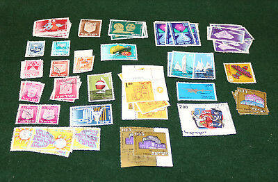 68 ISRAEL POSTAGE STAMPS USED GOOD TO VF UH 1950s, 60s & 70s