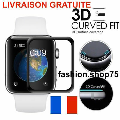 Apple Watch 38/42mm intégrale 3D Série 3 Vitre Protection Verre Trempé Apple A