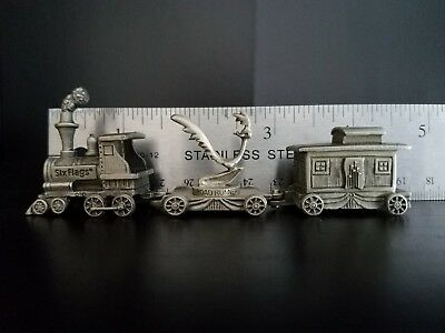 Looney Tunes Six Flags Pewter Train Engine Cab set and Flat Road Runner 1995