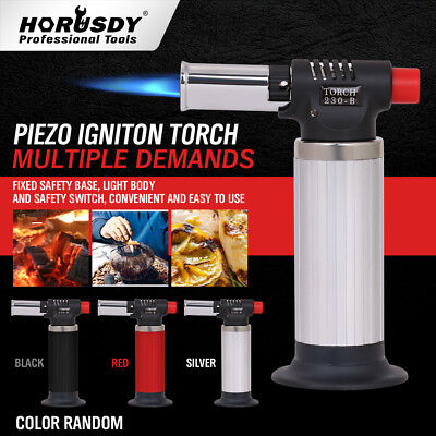 Jet Torch Gun Lighter Welding Adjustable Flame Windproof Butane Refillable 5.5""