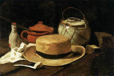 Photo Print Still-Life with Yellow Straw Hat Gogh, Vincent Van - in various size