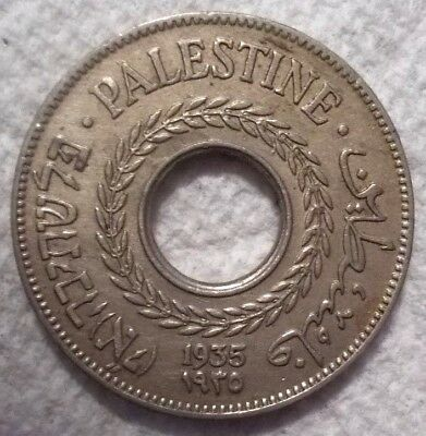 1935 Palestine 5 Mils KM# 3 Copper-Nickel Coin