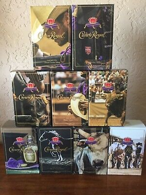 Crown Royal Limited Edition Rodeo Boxes * Complete Set *    * Collectors Alert *
