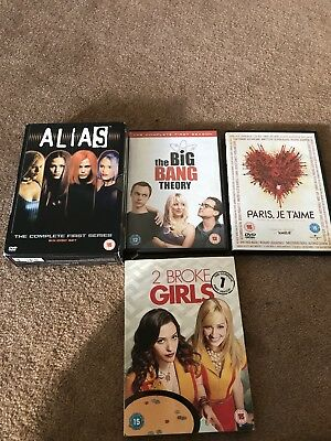 Bundle Job Lot Of 4 DVD boxsets Alias Big Bang Theory 2 Broke Girls
