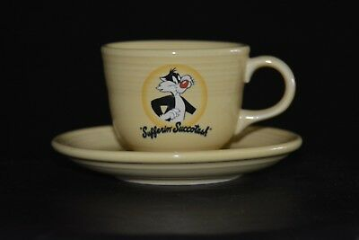 Sylvester The Cat Fiesta Ceramic Yellow Cup & Plate