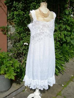 Delightful antique French Belle Epoque 1900 lace slip petticoat