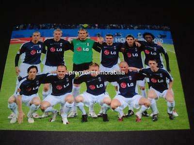 Fulham Fc 2010 Uefa Europa League Final Team Line Up Photograph