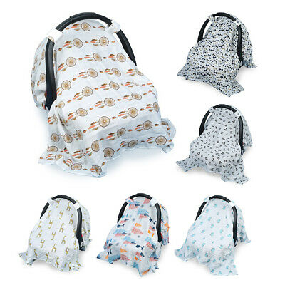 Universal Stretchy Baby Car Seat Covers Infant Car Canopy Breathable Windproof