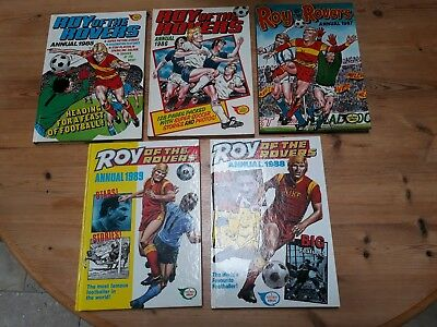 5 x Roy Of The Rovers Annuals 1985 1986 1987 1988 1988