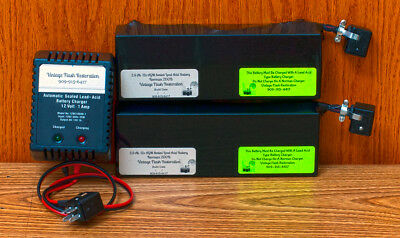 ~TWO  2.5 Ah AGM SLA BATTERIES FOR NORMAN 200B with 1 AMP DUAL MODE SLA Charger~