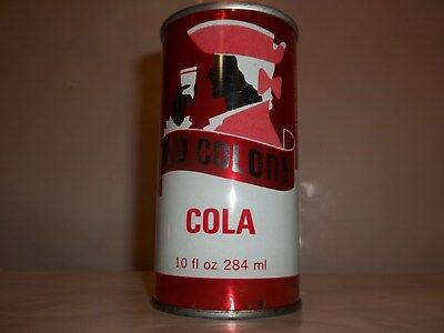 Old Colony Cola 10 Oz. Straight Steel Button Top Soda Pop Can