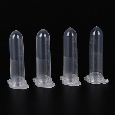 100x 2ml Micro Centrifuge Tube Vial Transparent Plastic Vials Container Snap JL