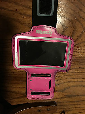 5s, 5c, 5 ipod/phone sport arm band sleeve/case bright pink