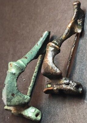 Lot Of 2 X Ancient Imperial Roman Fibula Brooches. Superb 2nd Century Artefacts.