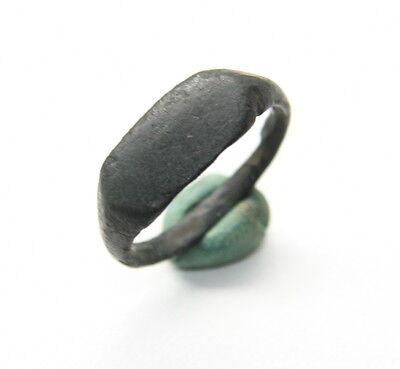 Ancient Old Medieval Bronze Ring (JLE22)