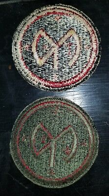 1930s Inter War WWII Army 27th Infantry Division OD Border Patch x2