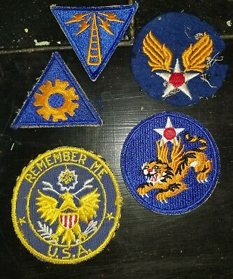 WWII US Army AAC Air Corps USAAC 14TH AF Patch Lot