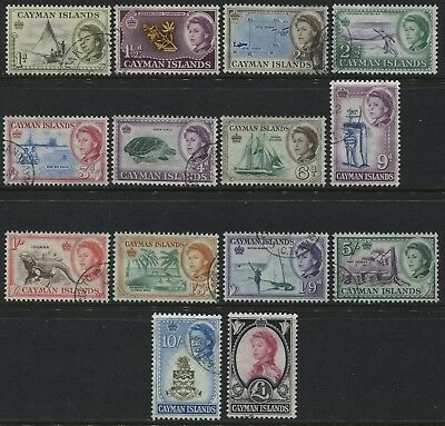 Cayman Islands QEII 1962 1d to £1 used