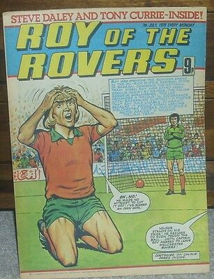 ROY OF THE ROVERS 7th July 1979 Tommy's Troubles The Hard Man Mike's Mini Men