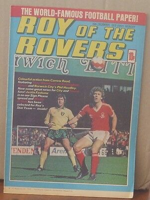 ROY OF THE ROVERS 15th December 1979 Tommy's Troubles The Hard Man MIghty Mouse