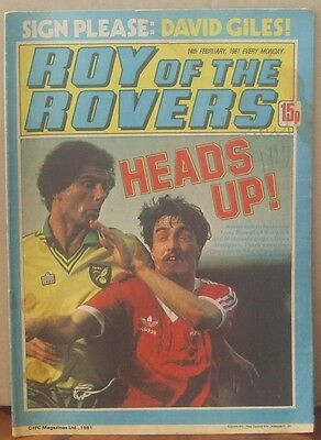 ROY OF THE ROVERS  14th February 1981 The Hard Man MIghty Mouse Tommy's Troubles