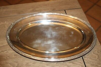 "Christofle Silver Plated ""Ruben"" - 16"" X 11"" Oval Tray Presentation Platter (E2)"