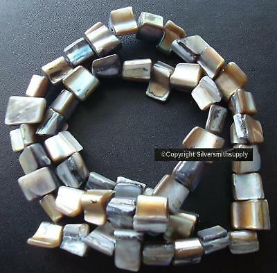 Natural baroque BLACK Abalone sea shell drilled nugget beads 15 In strand bs336