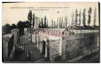 Vintage Postcard Militaria Champigny Monument on the Marne the platform of the