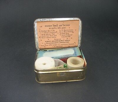 Vintage U.S. Forest Service Pocket First Aid Outfit Kit