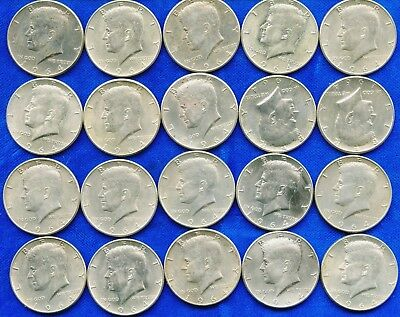 Roll Of 20 $10 Face Value 90% Silver 1964 Kennedy Half Dollars