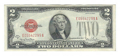1928G $2 United States Red Seal Note, Fr1508, Choice Very Fine