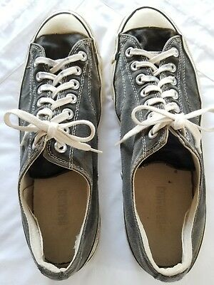 CONVERSE 70s Shoes OX Chuck Taylor All Star Low BLACK VTG Black Tag Patch 10 1/2