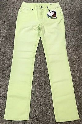 Girls Youth Size 14R Justice 'Super Bright' Lime Green Skinny Jeans!~Nwt!~
