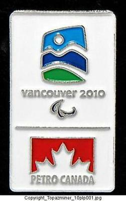 Olympic Pins 2010 Vancouver Canada Petro Sponsor Paral.