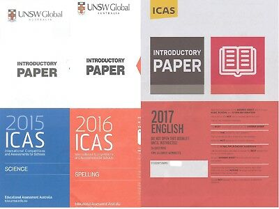 ICAS Papers (Year 2 to Year 7)- With Answers- any 5 papers for $3.50
