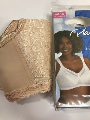 4e5242164f 42B Honey Playtex 18 Hour Comfort Lace Wirefree Bra airform Breathable 4088