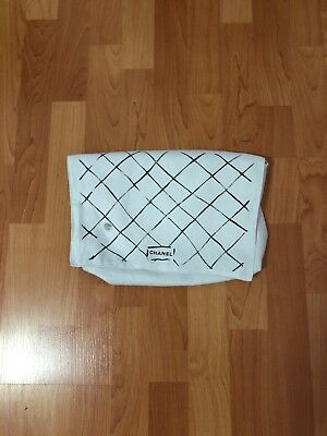 """CHANEL KARL LAGERFELD White Dust Bag 13.2 x 8.8"""" ICOT1 small stain used."""