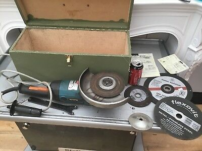 Makita Angle Grinder 9069 2000w 6600 Rpm 230mm In Box 11kg Power Tool Used qzzq