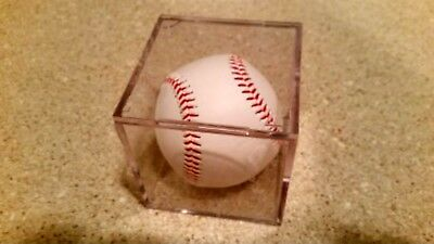 ~1 BCW PRO Baseball Display Case Clear Square UV Holder Cube w/ built in STAND